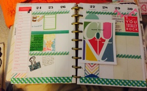 Happy planner week 1